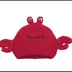 Mid pie- KNITTED RED CRAB HAT